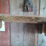 Live oak fireplace mantle